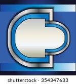 vector background curve line on ... | Shutterstock .eps vector #354347633