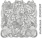 pattern for coloring book. ...   Shutterstock .eps vector #354349349
