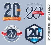 20 years anniversary logo | Shutterstock .eps vector #354351320