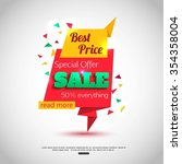 sale banner design. vector... | Shutterstock .eps vector #354358004