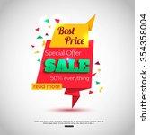 sale banner design. sale... | Shutterstock .eps vector #354358004