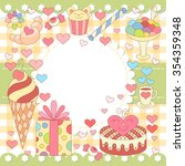 simple happy birthday card.... | Shutterstock .eps vector #354359348