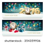 happy new year background with... | Shutterstock .eps vector #354359936