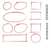 vector set of highlighter and... | Shutterstock .eps vector #354360620