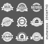 set quality labels on a gray... | Shutterstock . vector #354369743