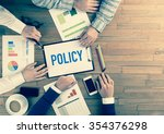 Small photo of Business Team Concept: POLICY