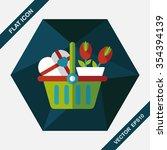 valentine's day present bucket... | Shutterstock .eps vector #354394139
