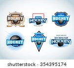 hockey sport team logotype... | Shutterstock .eps vector #354395174