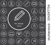 art  design outline  thin  flat ...