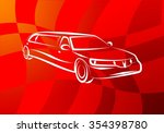 silhouette of a luxury car on a ... | Shutterstock . vector #354398780