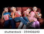group of children with 3d... | Shutterstock . vector #354406640