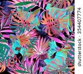 seamless tropical flower  plant ... | Shutterstock . vector #354407774
