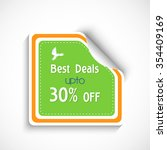 glossy sale sticker  tag or... | Shutterstock .eps vector #354409169