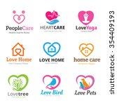 love logo collection  real... | Shutterstock .eps vector #354409193
