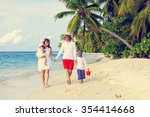 young family with two kids... | Shutterstock . vector #354414668