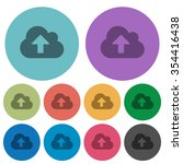 color cloud upload flat icon...
