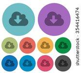 color cloud download flat icon...