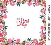 vector  floral  frame. hand... | Shutterstock .eps vector #354422528