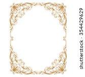 premium gold vintage baroque... | Shutterstock .eps vector #354429629