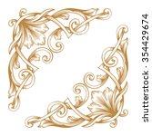 premium gold vintage baroque... | Shutterstock .eps vector #354429674