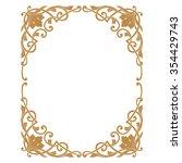 premium gold vintage baroque...   Shutterstock .eps vector #354429743