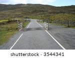 Cattle Grid On Road In...