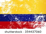 colombia grunge texture flag.... | Shutterstock .eps vector #354437060