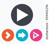 arrow icons. next navigation...   Shutterstock .eps vector #354442196