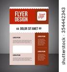 business brochure or offer... | Shutterstock .eps vector #354442343
