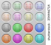 set of binary code plastic sunk ...