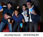 group of male sports fans... | Shutterstock . vector #354454634