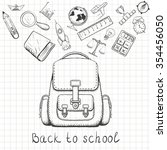 back to school. school backpack ... | Shutterstock . vector #354456050