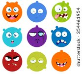 set of cartoon faces with...   Shutterstock .eps vector #354461954