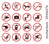 Vector Banning Signs