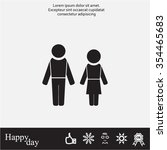 man and woman | Shutterstock .eps vector #354465683