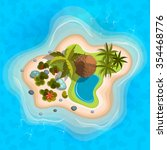 cartoon tropical exotic island... | Shutterstock .eps vector #354468776