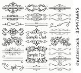 set of hand drawn sketched... | Shutterstock .eps vector #354476693
