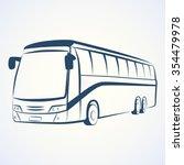 bus outline vector | Shutterstock .eps vector #354479978
