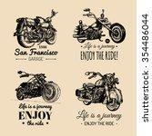 vector motorcycles... | Shutterstock .eps vector #354486044