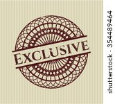 exclusive grunge stamp | Shutterstock .eps vector #354489464