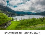 scandinavian lake | Shutterstock . vector #354501674