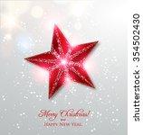 shiny christmas star  winter... | Shutterstock .eps vector #354502430