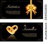 wedding invitation width ... | Shutterstock .eps vector #354502850