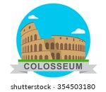 colosseum illustration | Shutterstock .eps vector #354503180