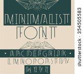 modern stylish alphabet for... | Shutterstock .eps vector #354505583