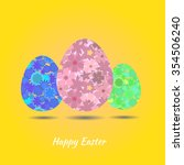 easter eggs decorated with... | Shutterstock .eps vector #354506240