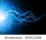 snowflakes and stars descending ... | Shutterstock . vector #354511508
