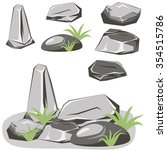 rock stone set. stones and... | Shutterstock .eps vector #354515786