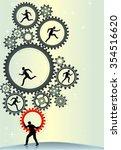 working business leaders... | Shutterstock .eps vector #354516620
