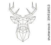 polygonal head of deer | Shutterstock .eps vector #354518513